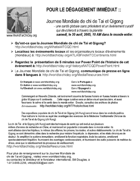 french translation of world tai chi & qigong day press release