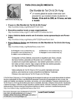 portuguese translation of world tai chi & qigong day press release
