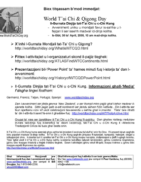 maltese translation of world tai chi & qigong day press release