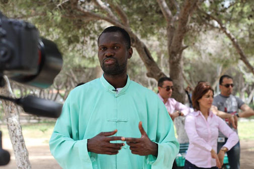 Ariel Bette Adolphe, Founder of FitaQi in Tunis, Tunisia, and Africa World Tai Chi Day organizer